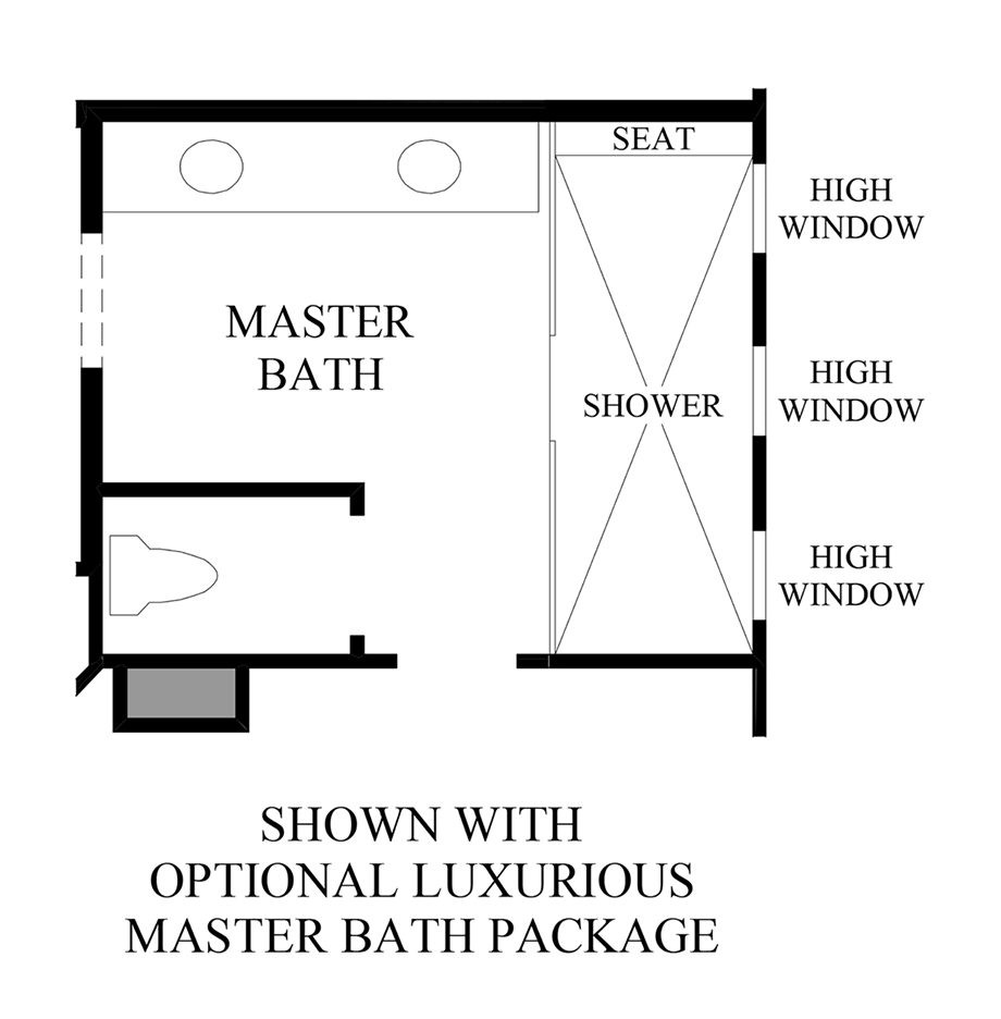 Optional Master Bath Luxury Package