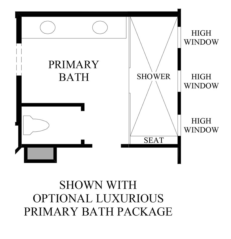 Optional Primary Bath Luxury Package