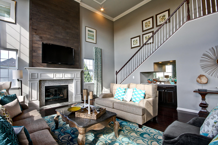 Bowes creek country club the masters collection the Model home family room pictures