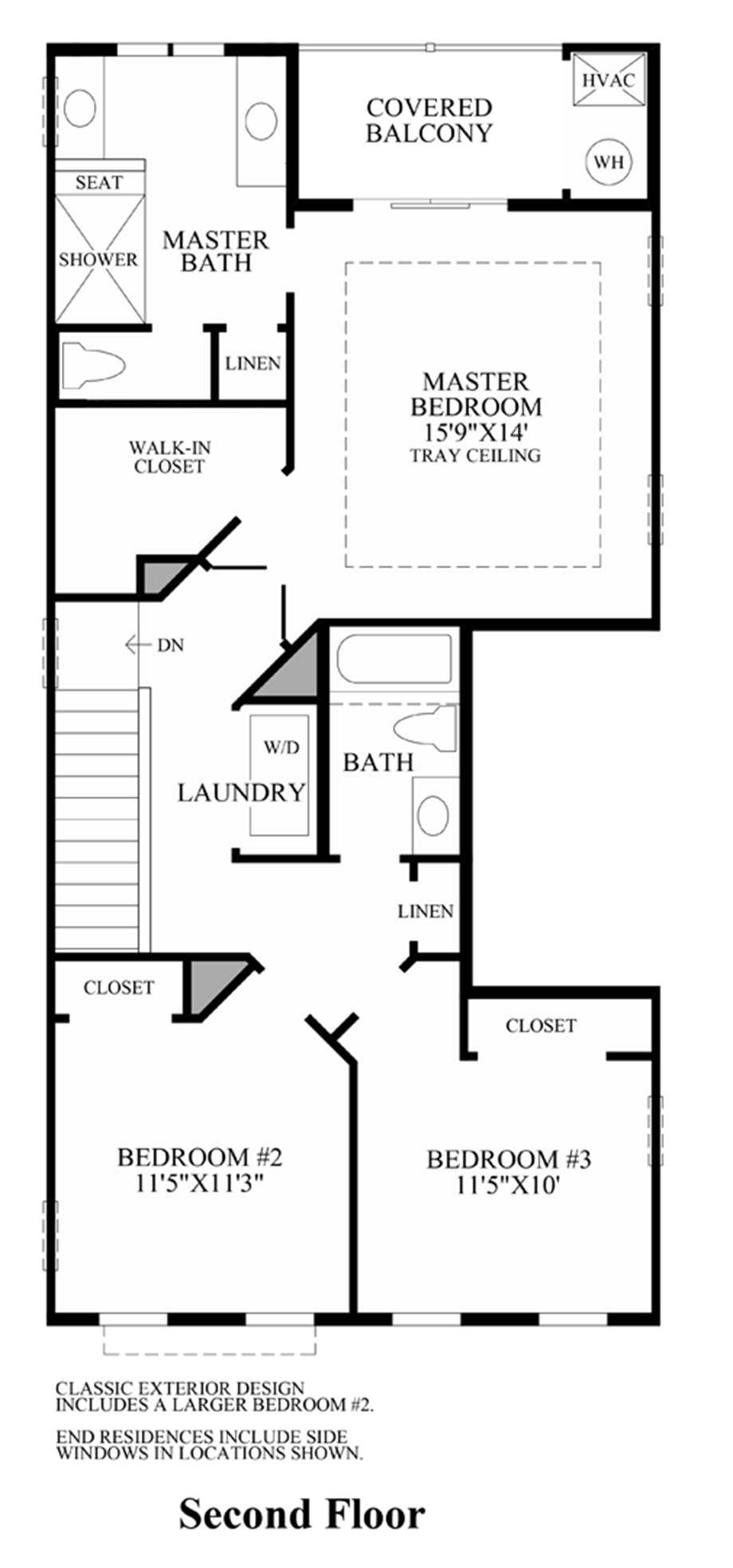 Ravenscliff at media stacked townhomes quick delivery for Stacked townhouse floor plans