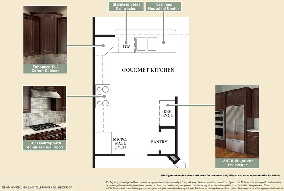 Enclave at pleasantville the henderson home design for Create your own kitchen floor plan
