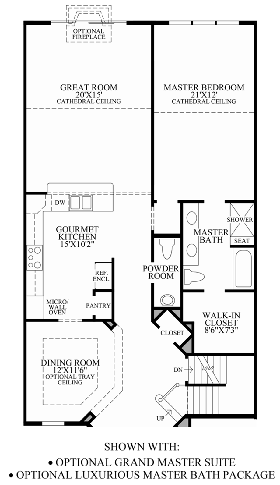 Luxury Master Bedroom Suite Floor Plans ridgeview of novi | the henderson home design