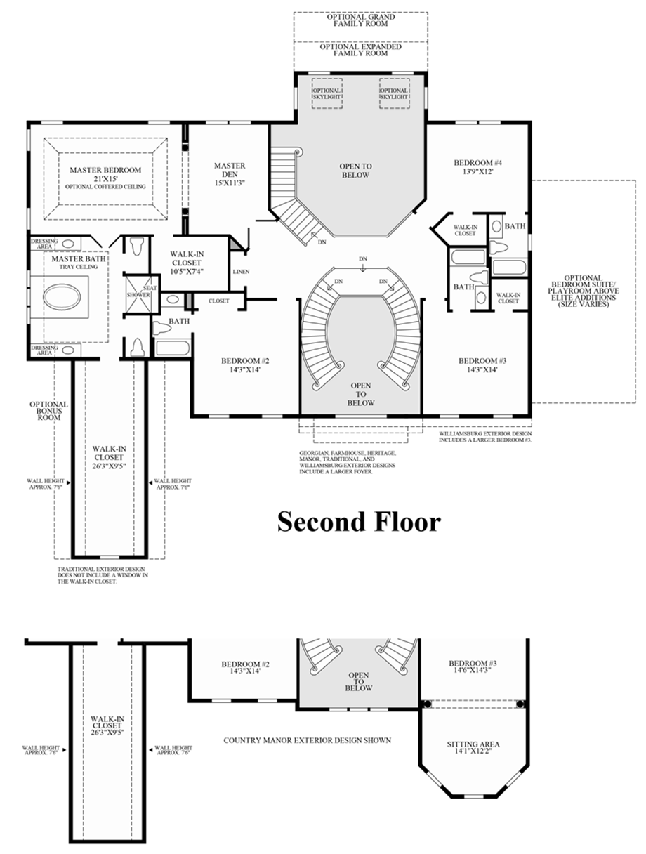 Master Bedroom Suite Floor Plans Additions