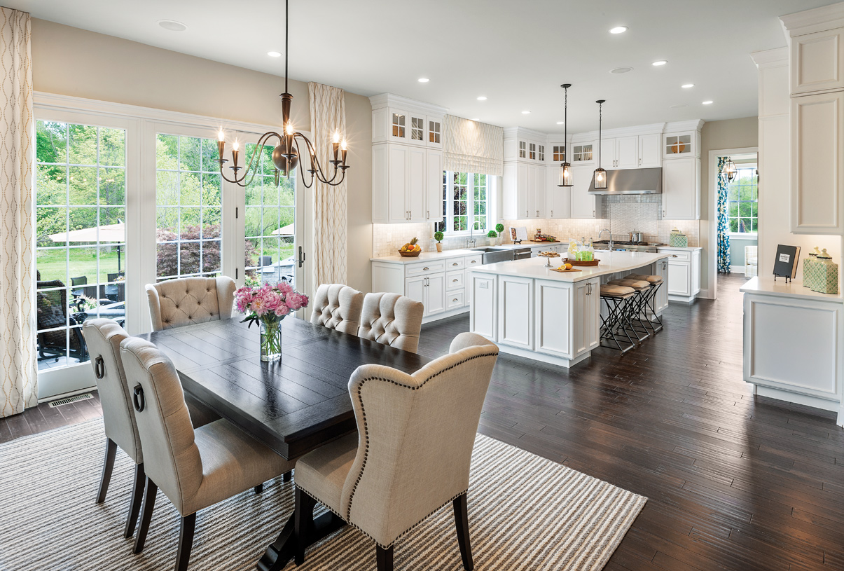 Gorgeous gourmet kitchen and casual dining area with walk-in pantry