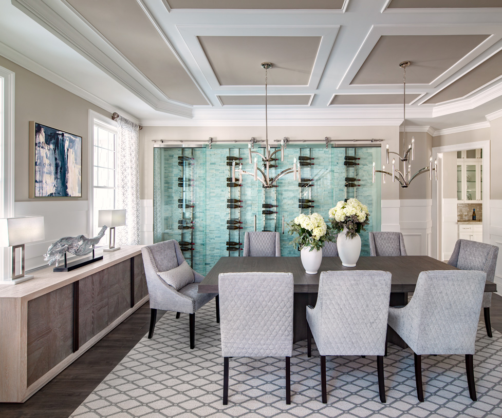 Formal dining room designed for the best dinner parties with family and friends
