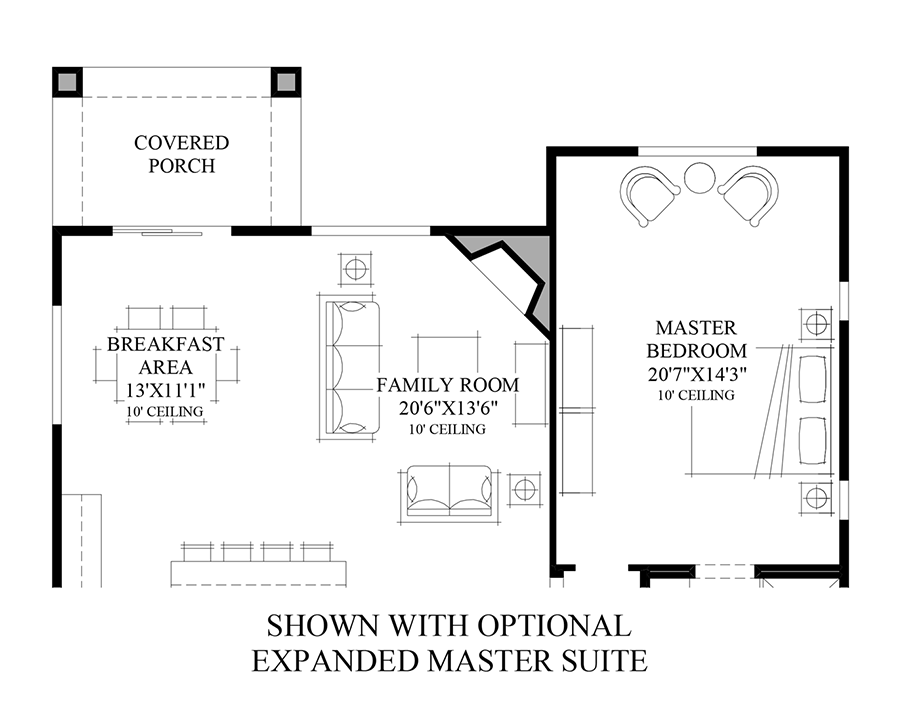 Optional Expanded Master Suite Floor Plan