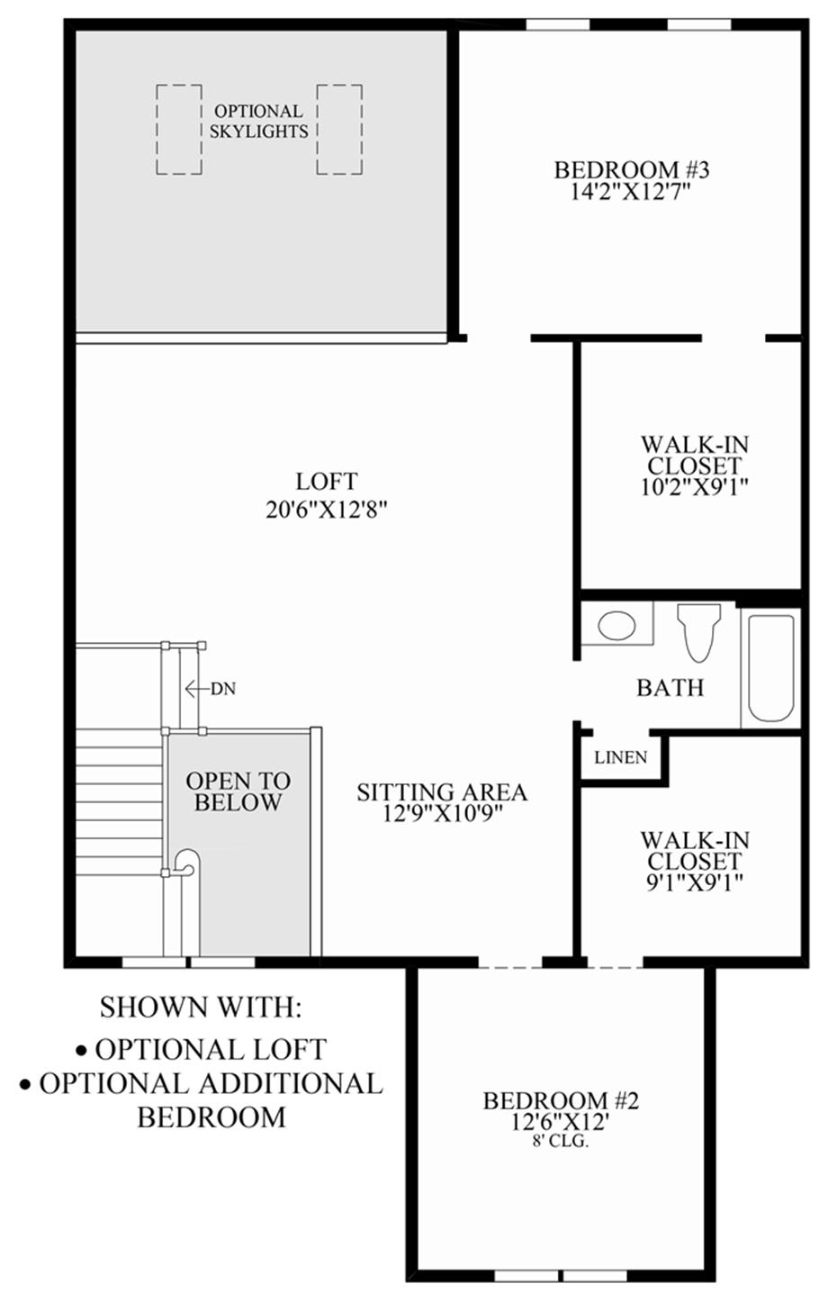 Optional Loft/Additional Bedroom Floor Plan