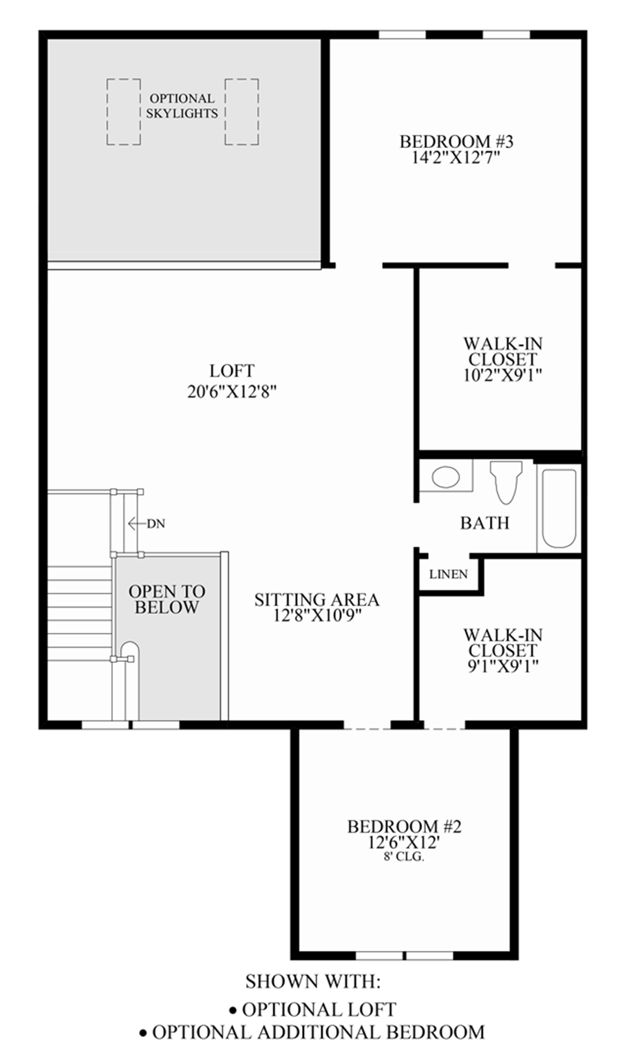 Optional Loft/Additional Bedroom Floor Plan