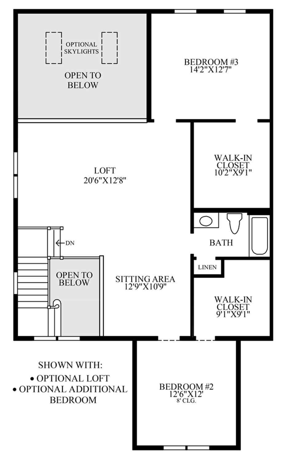 Optional Loft & Additional Bedroom Floor Plan