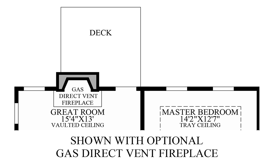 Optional Gas Direct Vent Fireplace Floor Plan