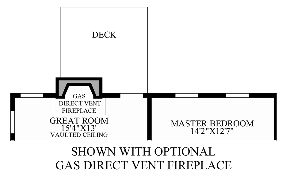 Optional Gas Direct Vent Fireplace Floor Plan