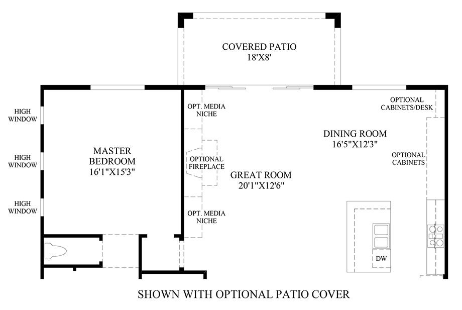 Optional Patio Cover Floor Plan