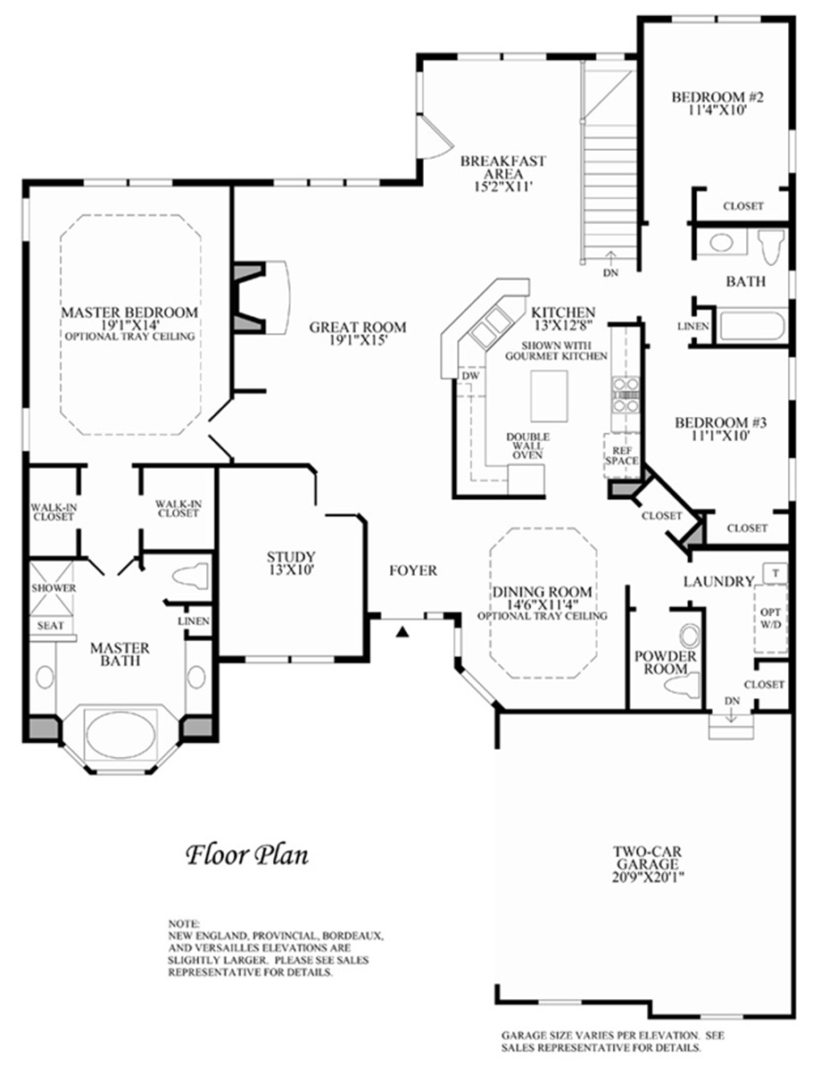 Regency at the woods of south barrington the hinsdale for Barrington floor plan