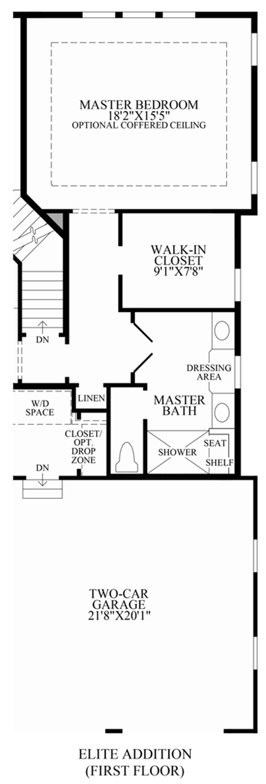 Optional Elite Addition (1st Floor) Floor Plan