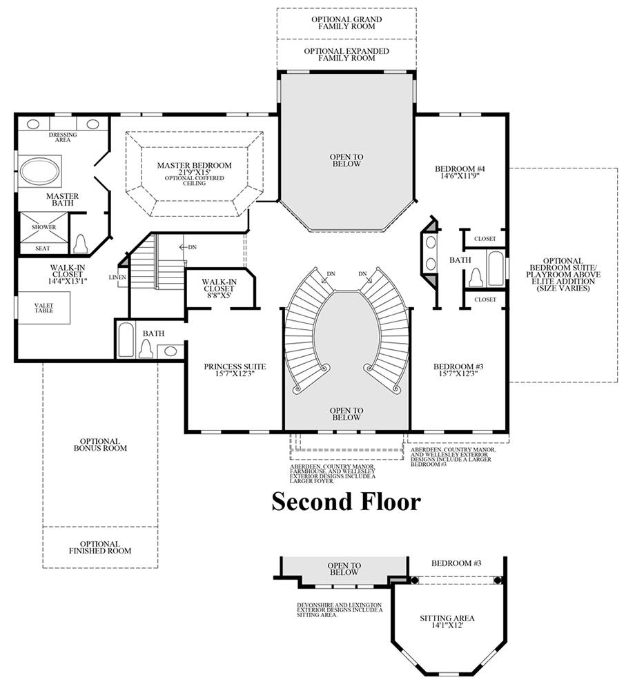 hasentree signature collection the hollister home design 2nd floor floor plan