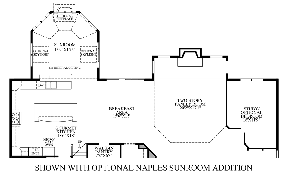 Hasentree signature collection the hollister home design for Sunroom floor plans