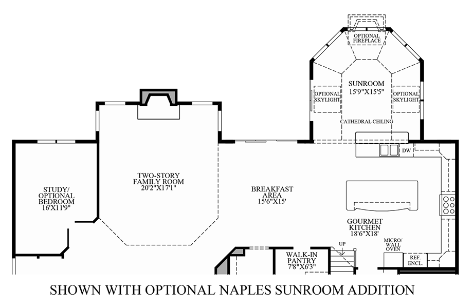 Steeplechase at branchburg the hollister home design for Sunroom addition floor plans