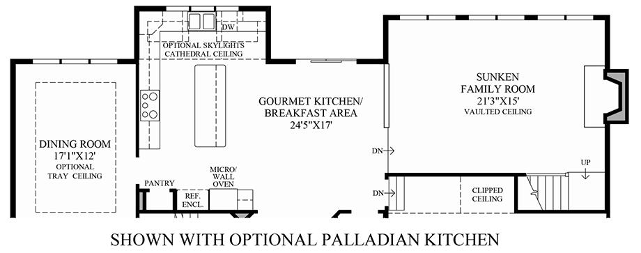 Optional Palladian Kitchen Floor Plan