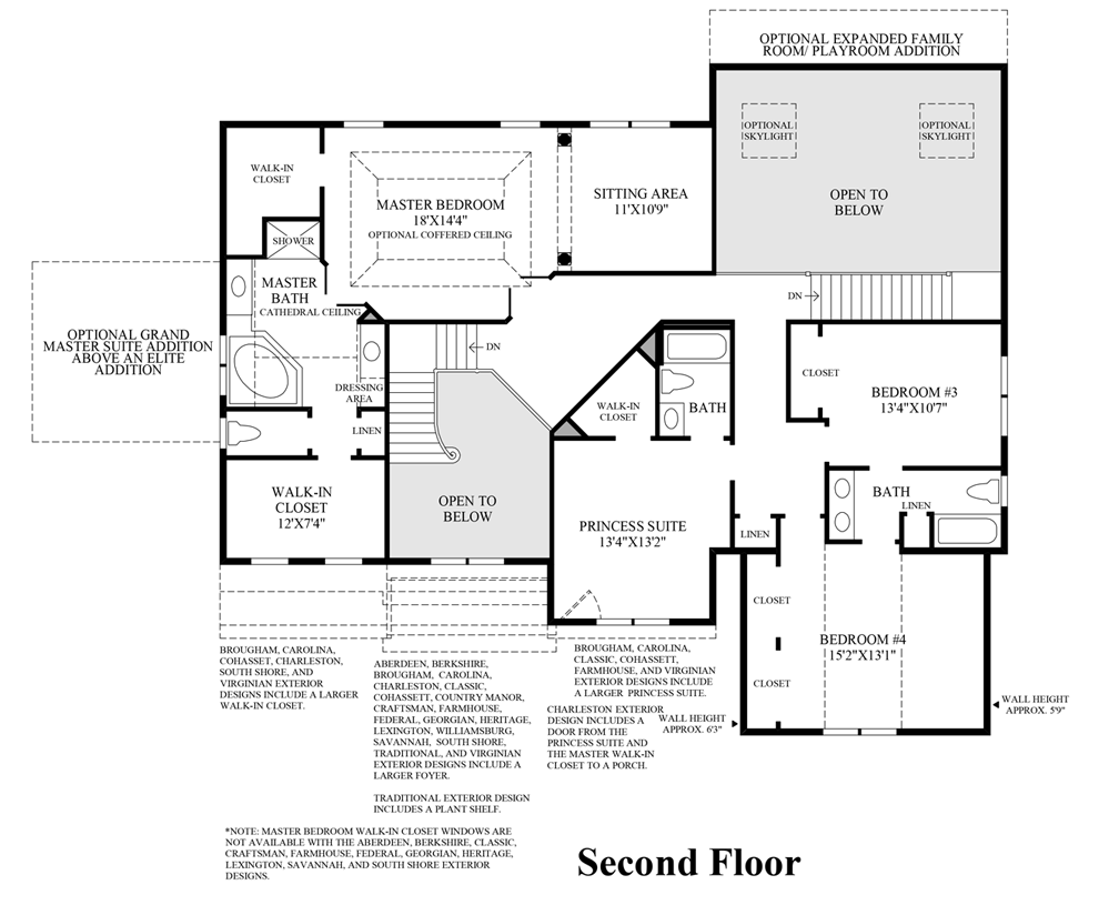 Master Bedroom Suite Floor Plans Additions The Woods Of South Barrington Signature Collection The Harding