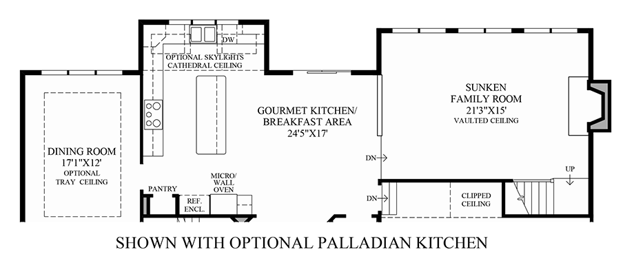 Optional Palladian Kitchen Floor Plan