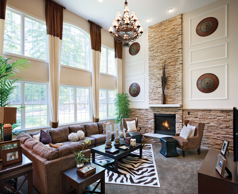 Dominion valley country club executives the hopewell How to decorate a house with two living rooms
