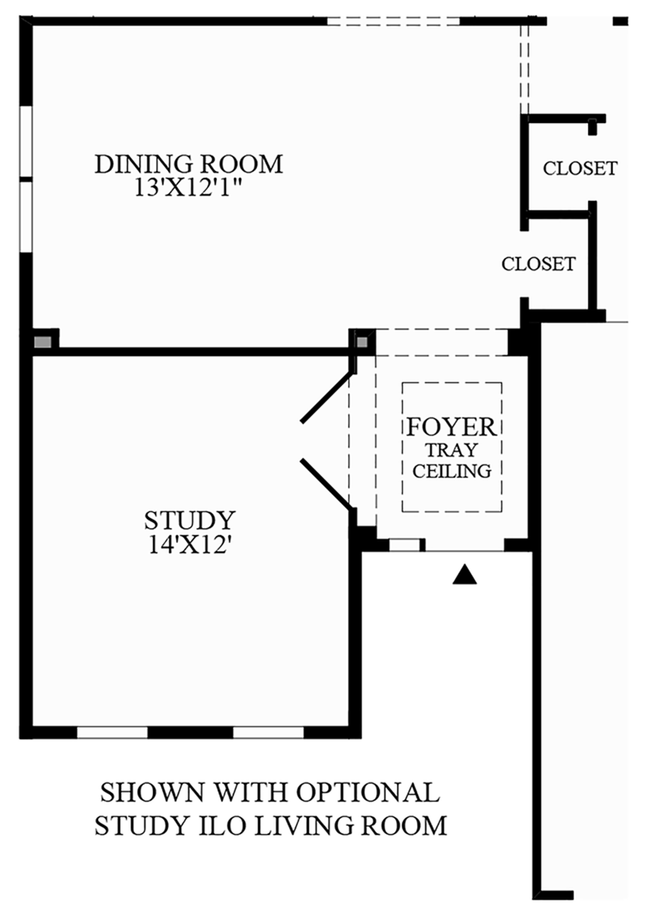 Optional Study In Lieu of Living Room Floor Plan