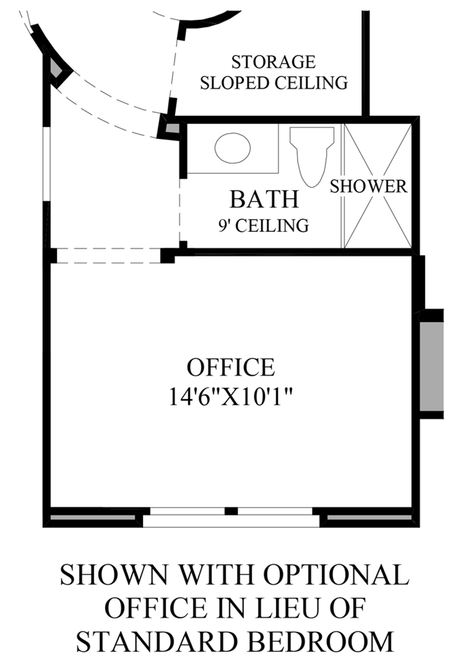 Optional Office ILO Bedroom Floor Plan
