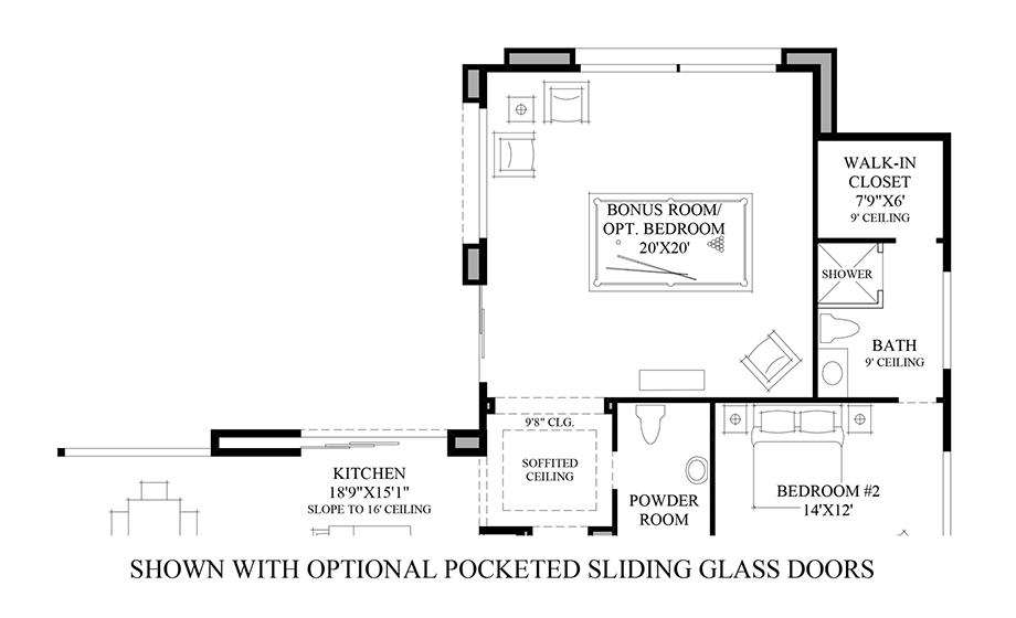 Optional Sliding Glass Doors Floor Plan