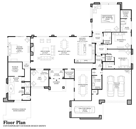 Floor Plan - Contemporary Exterior Design Floor Plan