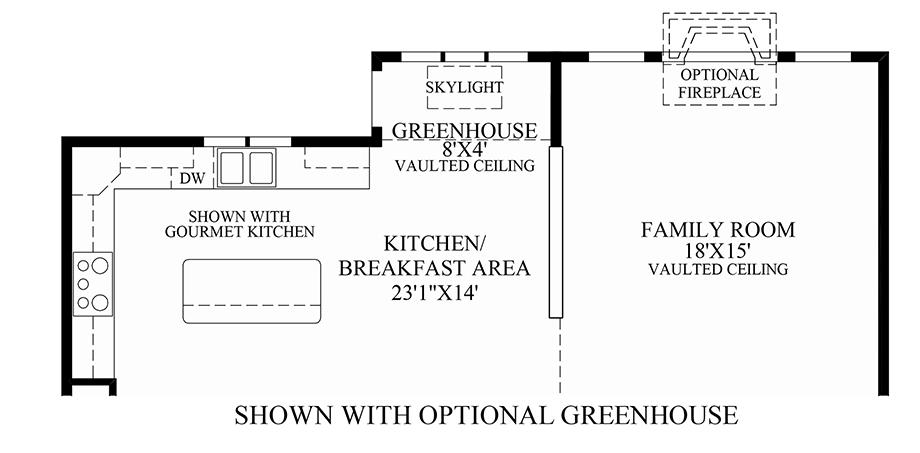 Optional Greenhouse Floor Plan
