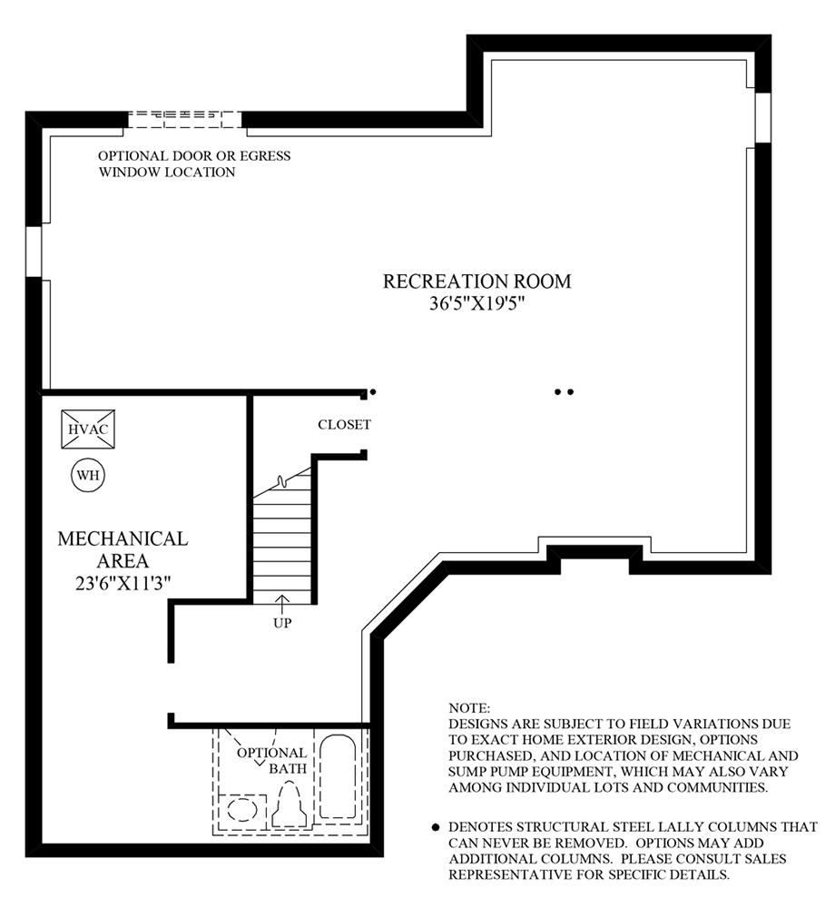 Finished Lower Level Floor Plan