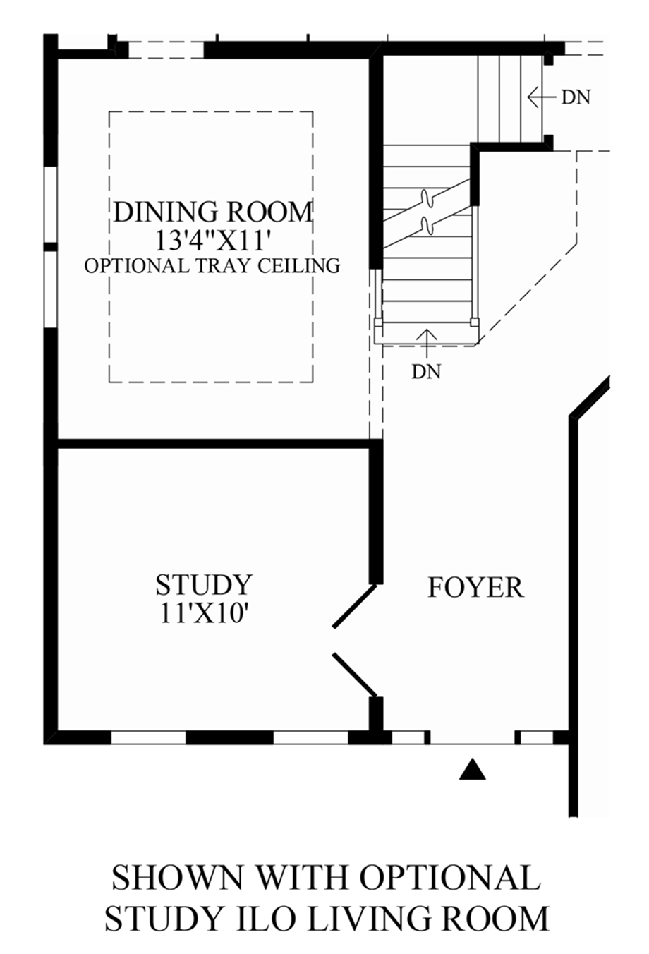 Optional Study ILO Living Room Floor Plan