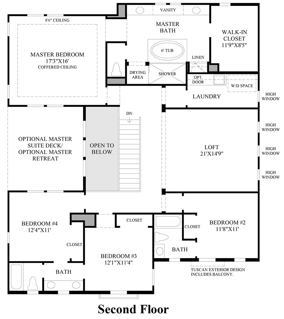 madison at parkside the jasper home design 2nd floor floor plan