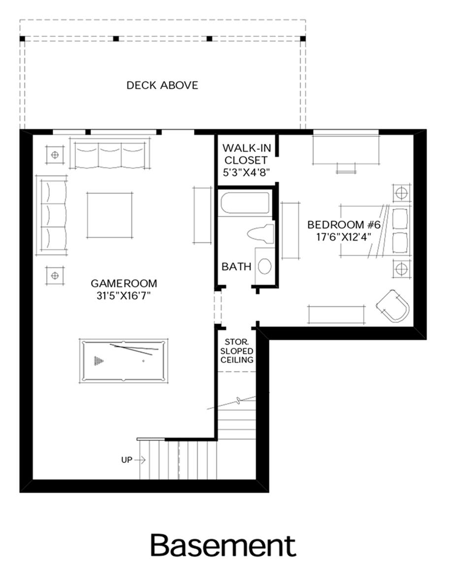 Talon ridge the jefferson with basement home design for Design your own basement floor plans