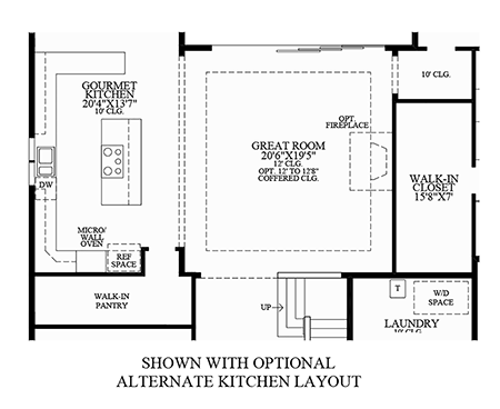 Optional Alternate Kitchen Layout