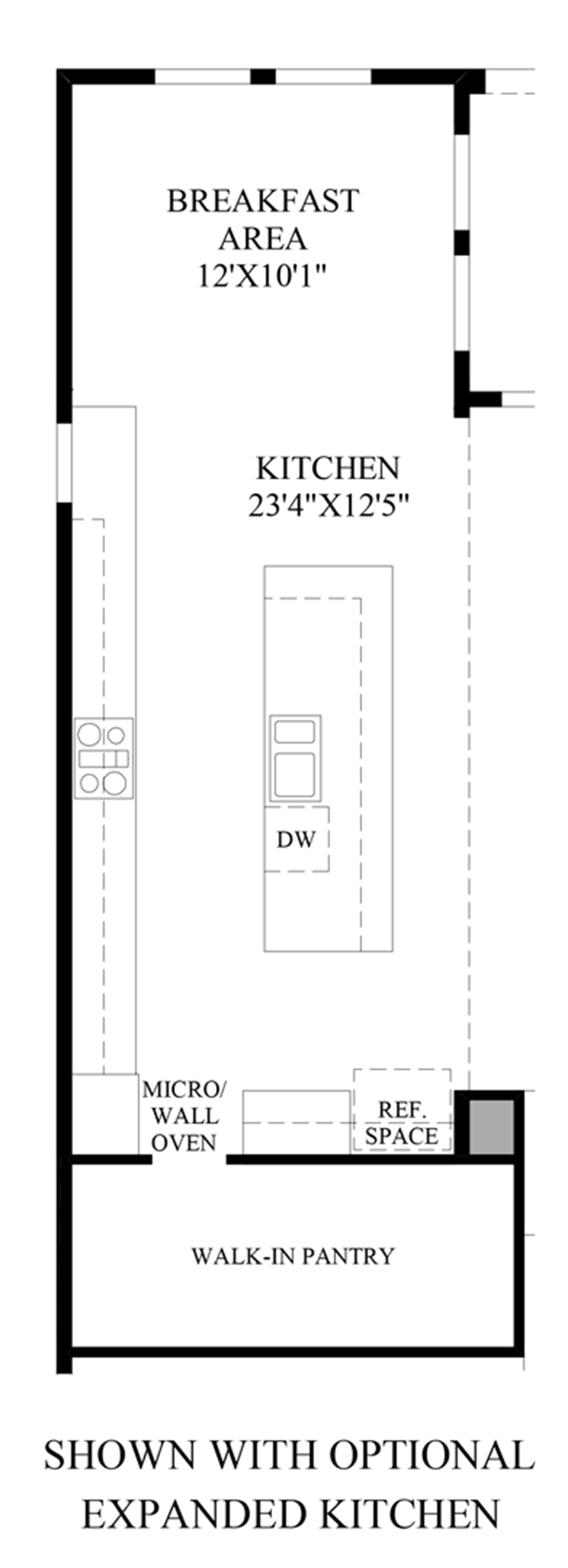 Optional Expanded Kitchen Floor Plan