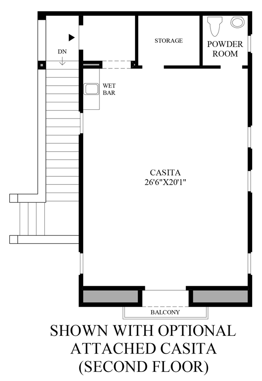 Optional Attached Casita (2nd Floor) Floor Plan