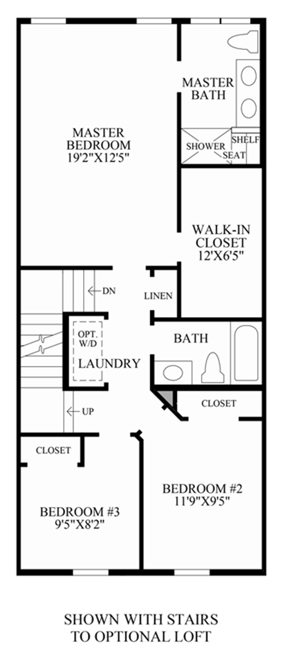 Stairs to Optional Loft Floor Plan