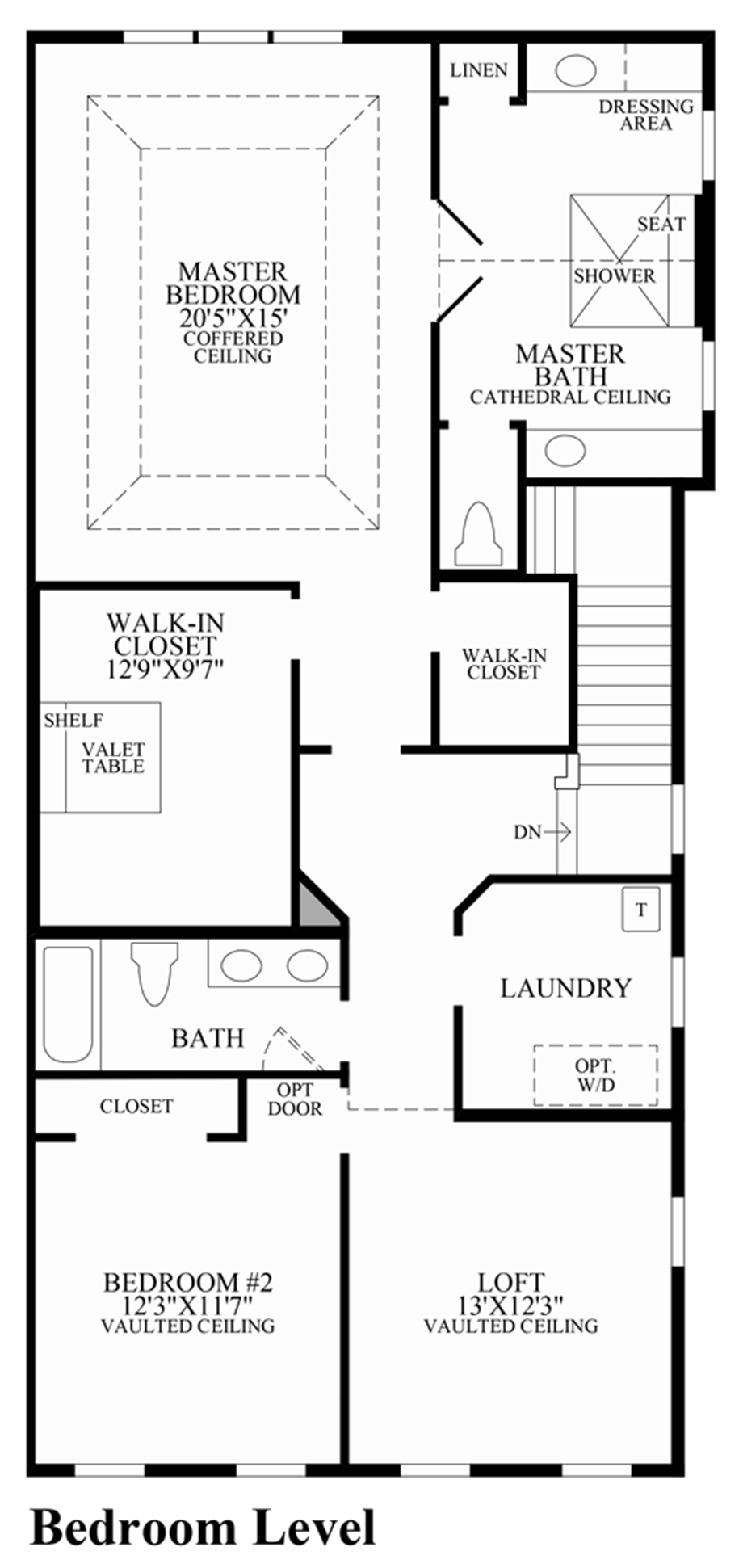 Bedroom Level Floor Plan