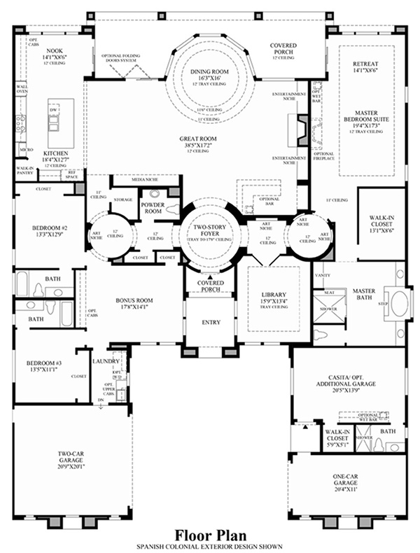 View floor plans for Model house design with floor plan