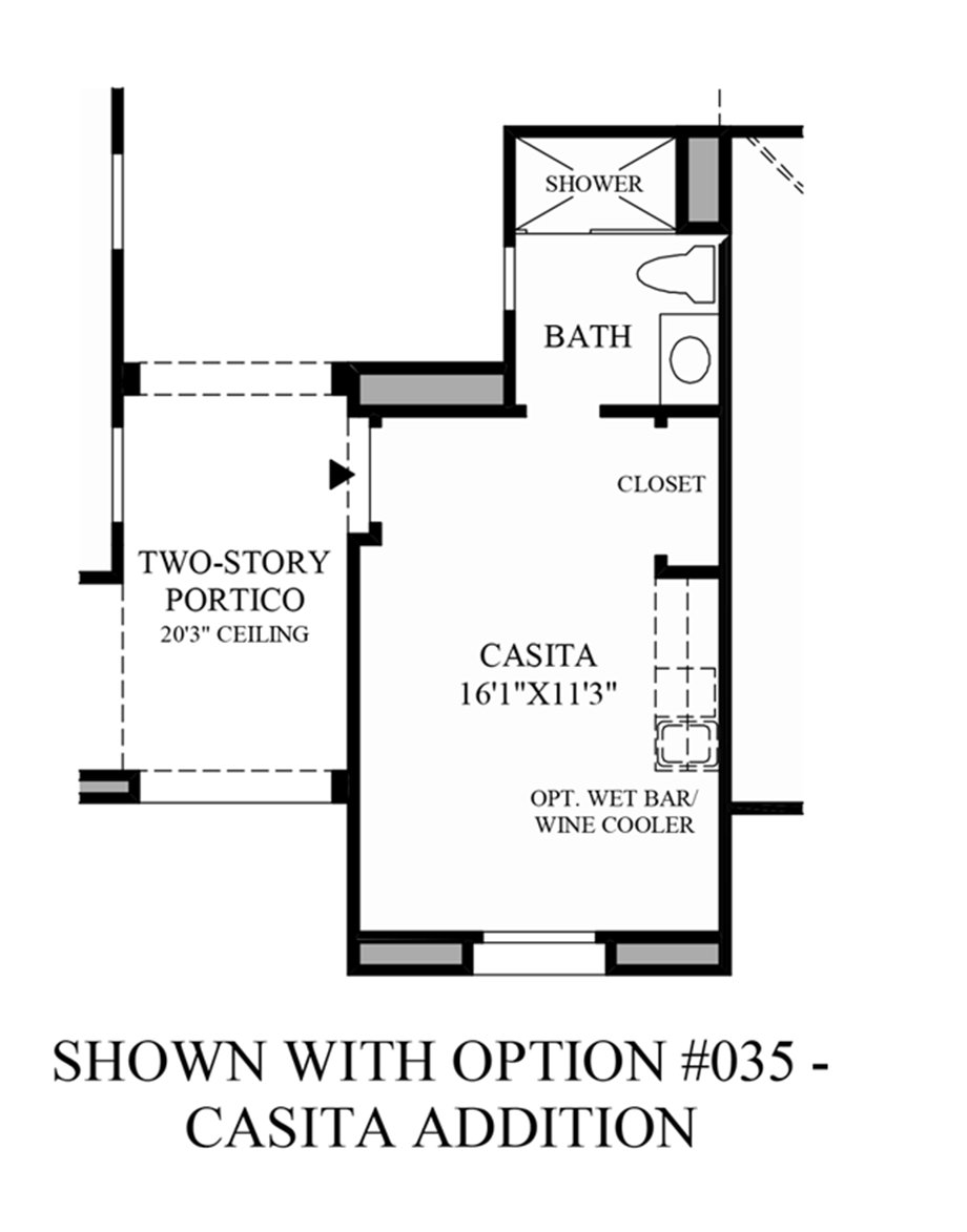 Optional Casita Addition Floor Plan
