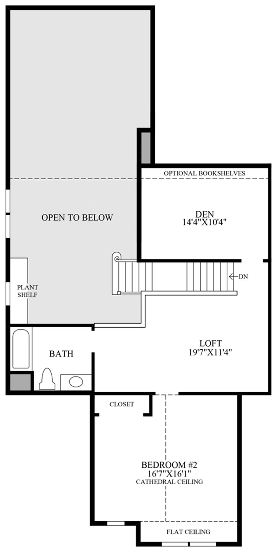 Optional Alternate 2nd Floor Floor Plan