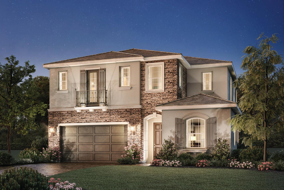 Las brisas toll brothers at robertson ranch for Two story model homes
