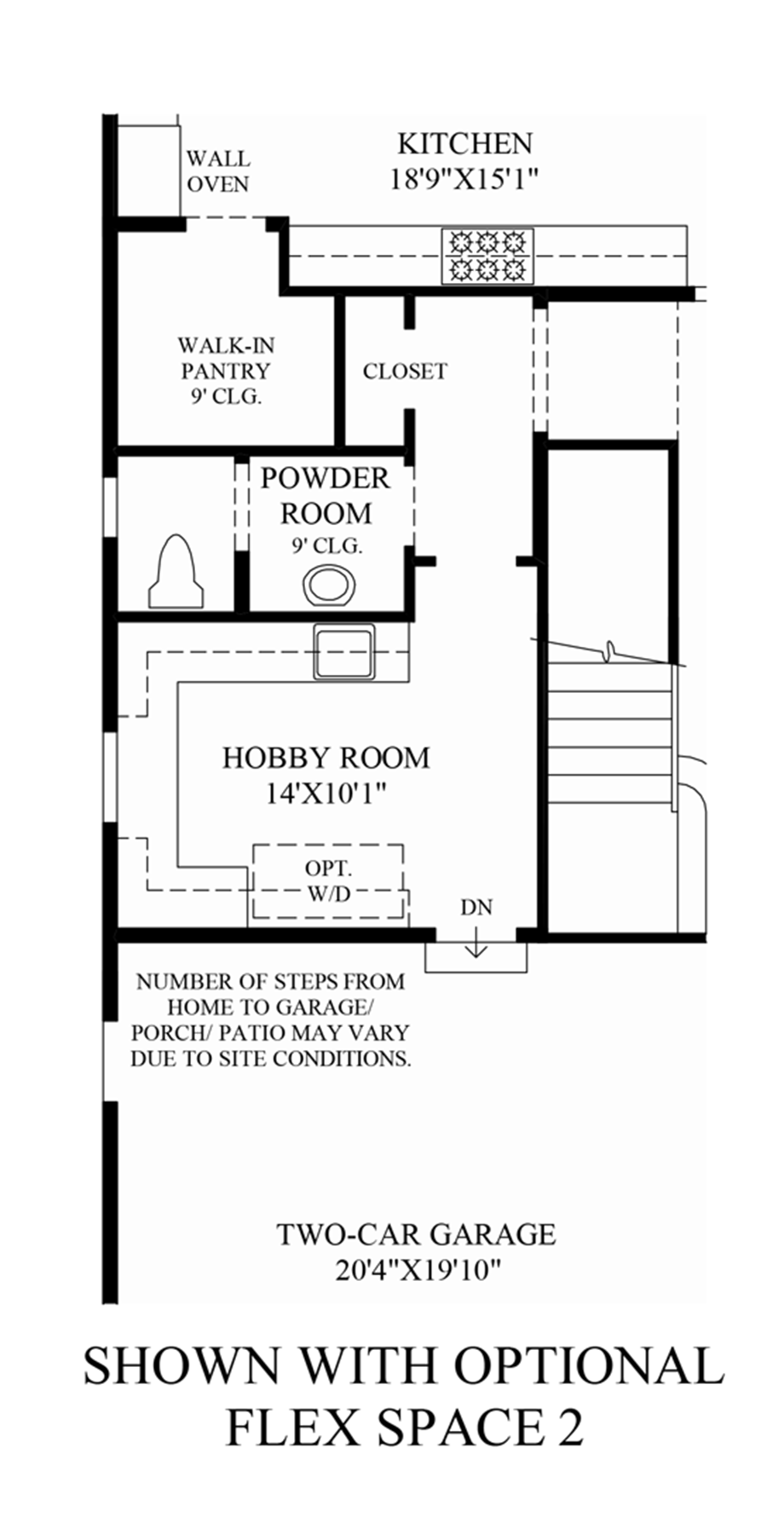Optional Flex Space 2 Floor Plan