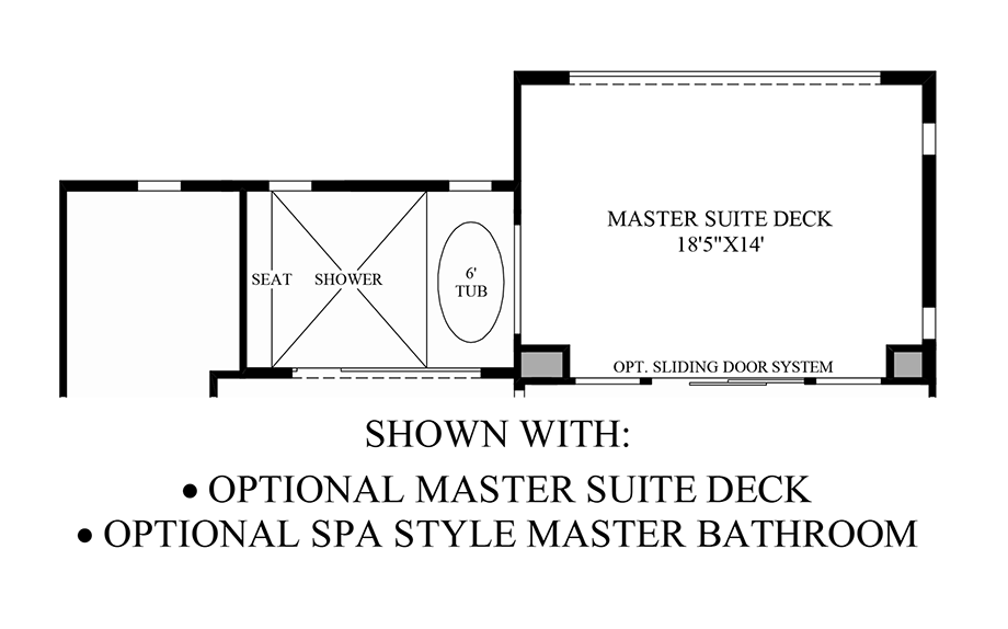 Optional Master Suite Deck/Spa Style Master Bathroom Floor Plan