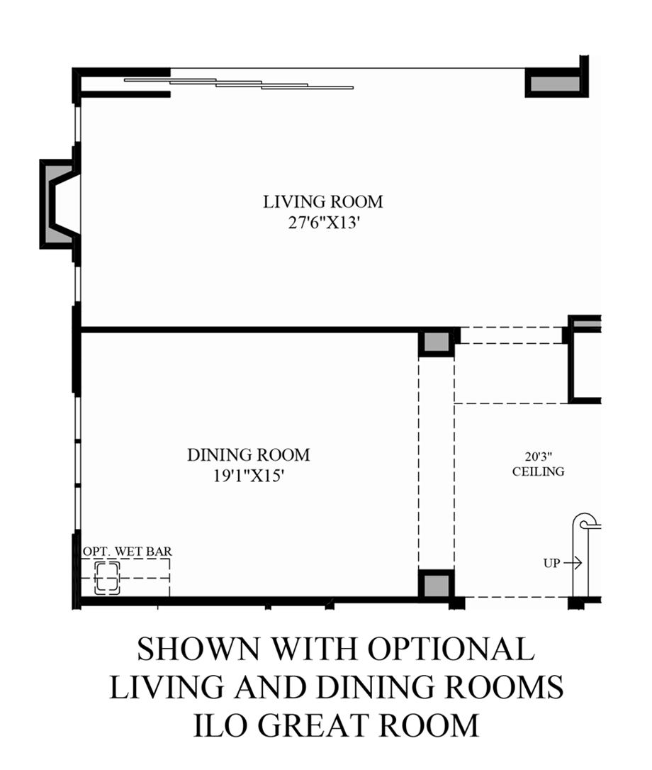 Optional Living and Dining Rooms ILO Great Room Floor Plan