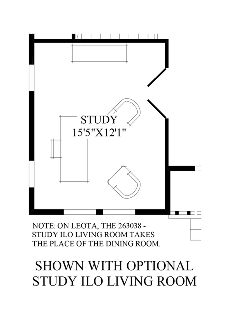 Optional Study ILO Living Room Floor Plan