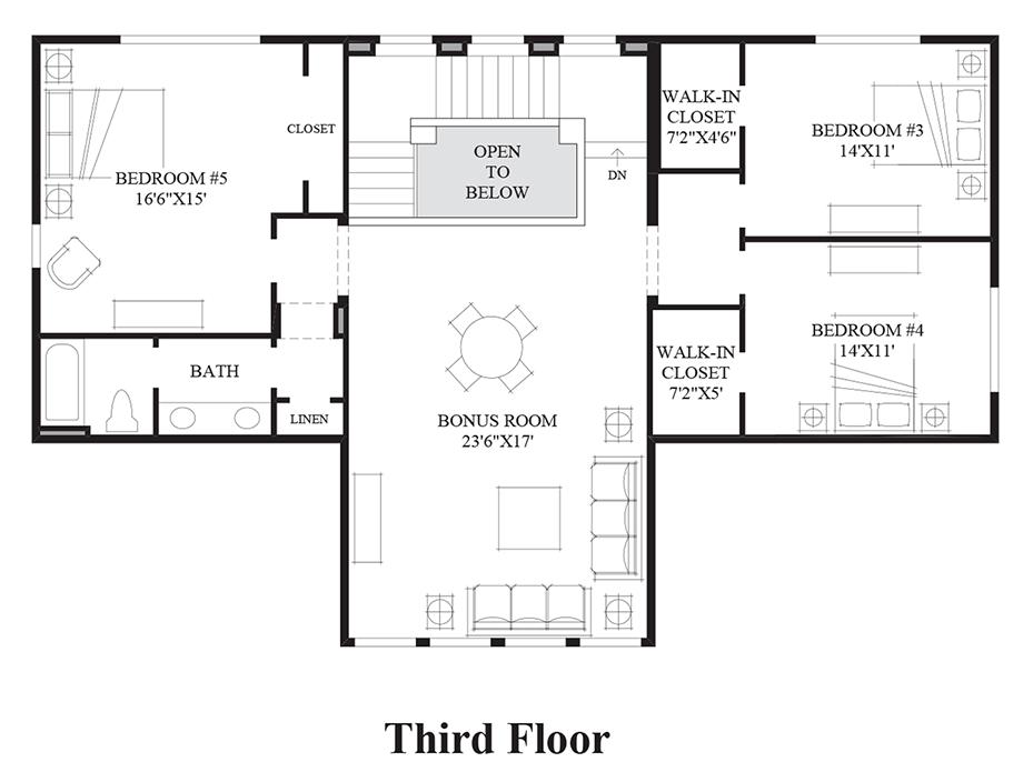 Belvedere at bellevue the lilian home design for Washington house plans