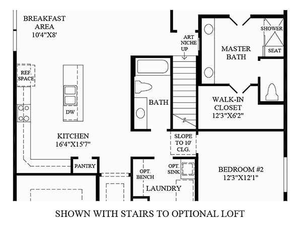 Stairs to Optional Loft