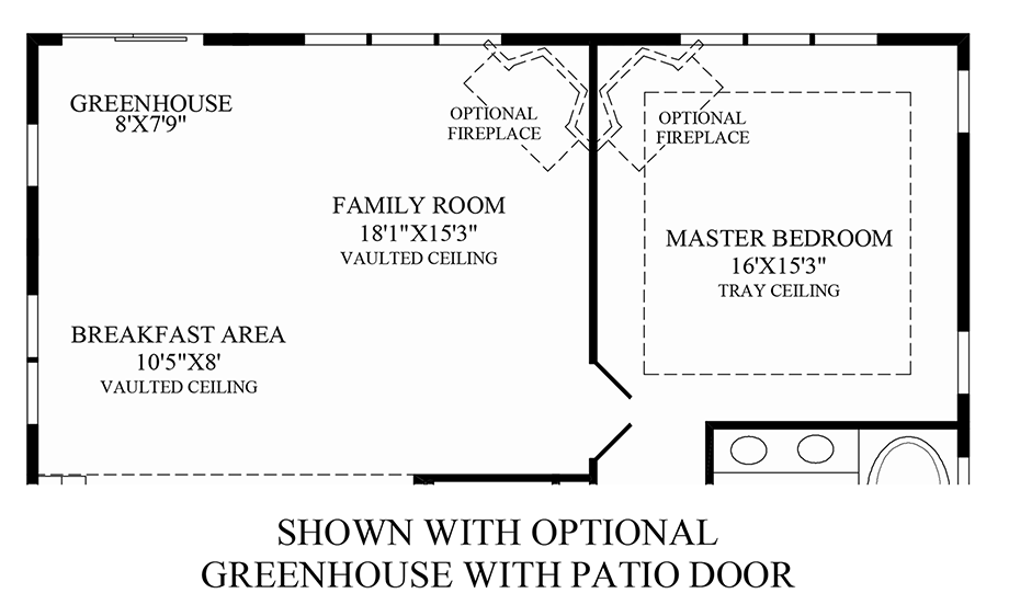 Optional Greenhouse w/ Patio Door Floor Plan